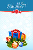 šablona vánoční přání — Stock vektor