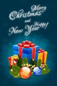 Christmas Card Template — Vector de stock