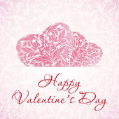 Happy Valentine's Day Floral Background — Stock Vector