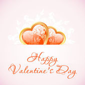 Happy Valentine's Day Floral Background — Wektor stockowy