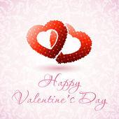 Heureuse Saint-Valentin floral carte — Vecteur