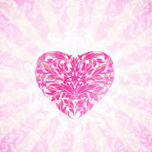 Happy Valentine's Day Floral Background — Stockvektor