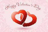 Happy Valentine's Day Floral Background — Vettoriale Stock