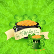 Stock Vector: St. Patricks Day Background