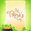 Saint Patricks Day Card — Stockvektor