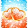 Valentine's Day Background with Floral Hearts — Stock Vector