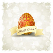 Grungy Easter Background with Decorated Egg — Stock Vector