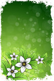 Grungy Floral Background — Stock Vector