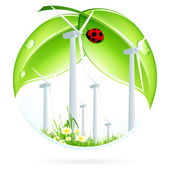Wind Power Plant Icon — Stockvektor