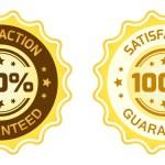 100 Satisfaction Guaranteed Label — Stock Vector #49249769