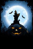 Grungy Halloween Card — Stock Vector