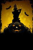 Scary Halloween-Karte — Stockvektor