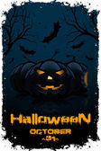 Grunge Background for Halloween Party — Stock Vector