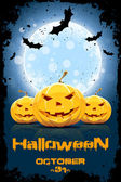Grungy Background for Halloween Party — Stock Vector