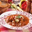 Hungarian beef goulash stew - Stock Photo