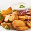 Stock Photo: Fried potato wedges