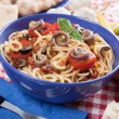 Spaghetti a la puttanesca — Stock Photo