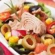 Tuna salad with vegetables — Stock Photo