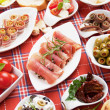Table full of appetizers — ストック写真