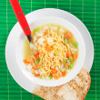 Noodle soup with vegetables — Stock Photo