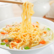Noodle soup with vegetables - Stock Photo