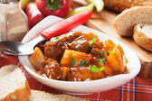 Goulash, hungarian beef stew — Stock Photo