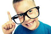 Young nerd with idea — Stock Photo