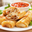 Egg rolls filled with vegetables — Stock Photo #21308283
