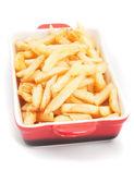 Batatas fritas em uma tigela — Fotografia Stock