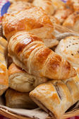 Croissant and other puff pastry — Foto Stock