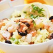 Seafood risotto — Stock Photo