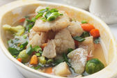 Fish and vegetable soup — Stockfoto