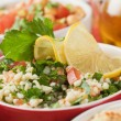Tabbouleh, bulgur wheat salad — Stock Photo
