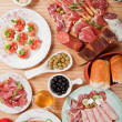 Stock Photo: Antipasto food