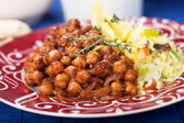 Chana masala with rice — Stock Photo