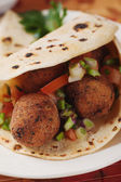 Falafel, deep fried chickpea balls — Stock Photo