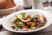 Balık ve deniz mahsulleri çorbası — Stok fotoğraf