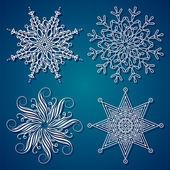 Elegance Snowflake — Stock Vector