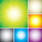 Radial Rays — Stock Vector