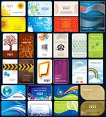 Variety business cards background — Stock Vector