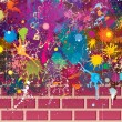 Colors Grunge Wall - Stockvektor