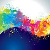 Paints wave — Stock Vector