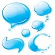 Water Speech Bubbles — Stock Vector