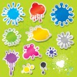 Sticky Splashes — Stock Vector