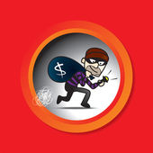 Sneak Thief — Stock Vector