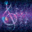 Abstract Music Background - Vettoriali Stock 