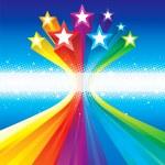 Funky Celebratory Stars — Stock Vector #26115653