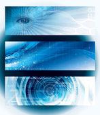Banner di tecnologia — Vettoriale Stock