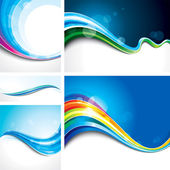 Wave Background set — Stock Vector