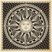 Brújula de sol — Vector de stock